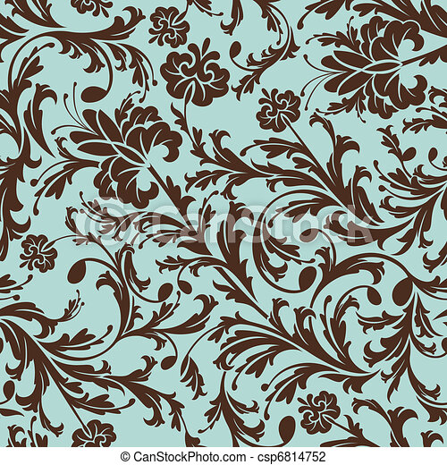 floral példa, seamless - csp6814752