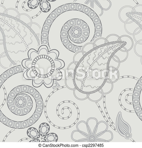floral példa, seamless, háttér - csp2297485