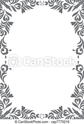 floral page decoration - csp7770216