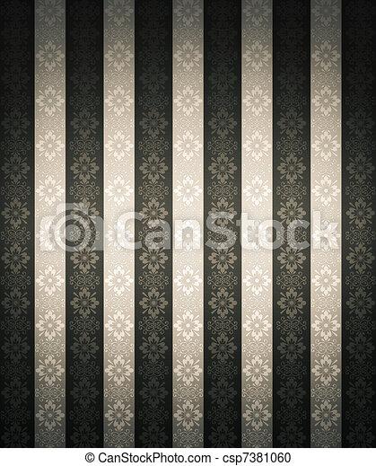 floral, papel parede, seamless - csp7381060