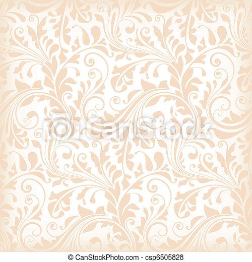 floral, papel parede, seamless - csp6505828