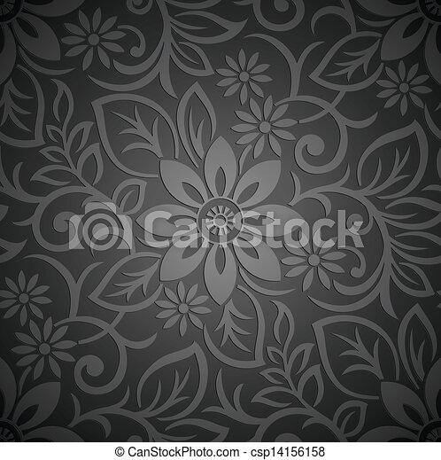 Papel floral sin costura - csp14156158