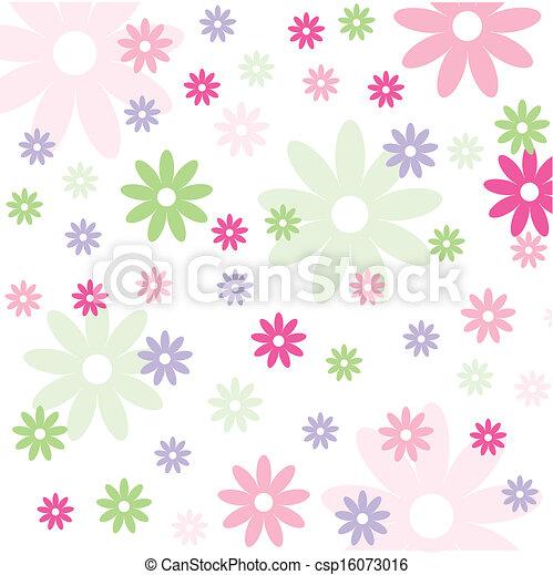 floral, papier peint, seamless, modèle - csp16073016