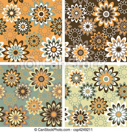 Floral Pattern Autumn - csp4249211