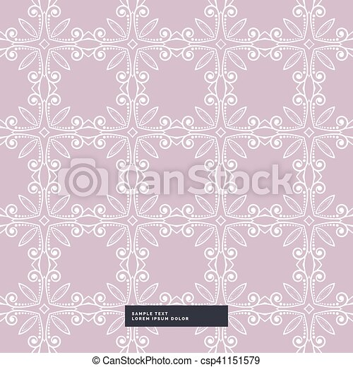 floral pattern background with soft colors - csp41151579