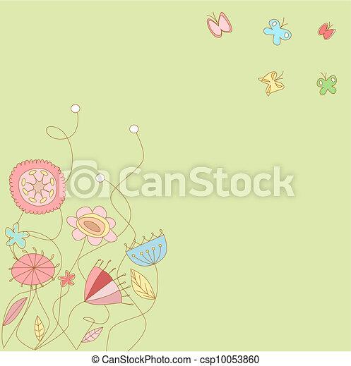 Floral pattern - csp10053860