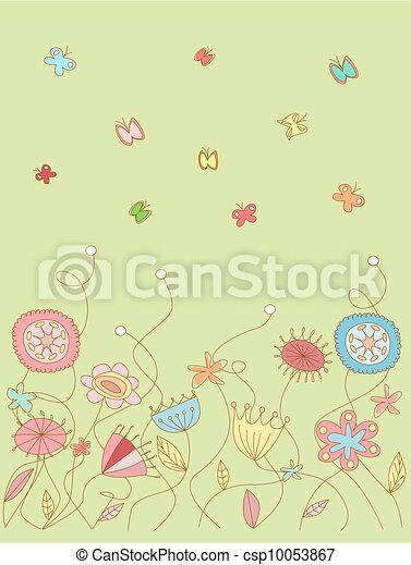 Floral pattern - csp10053867
