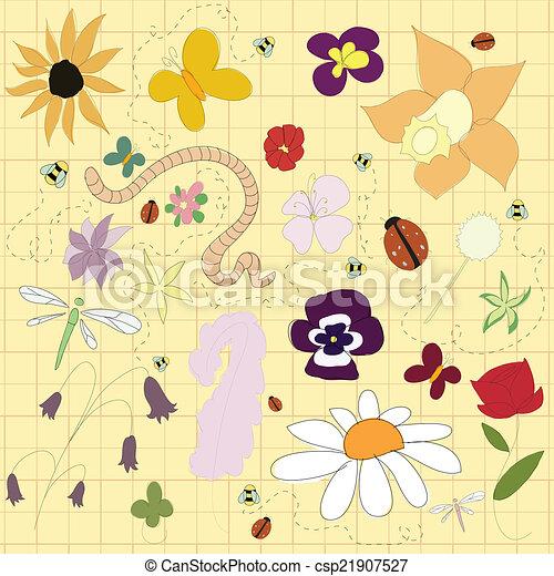 floral, pattern. - csp21907527