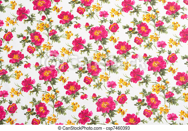 Floral pattern on seamless cloth. Flower bouquet. - csp7460393