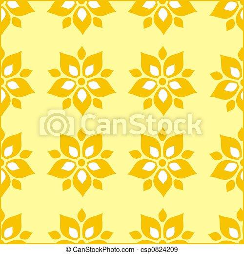 Floral pattern wallpaper - csp0824209