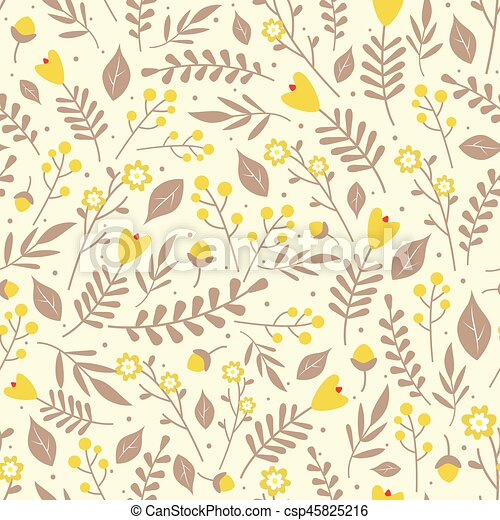 Floral pattern with yellow flowers seamless floral pattern with floral pattern with yellow flowers csp45825216 mightylinksfo