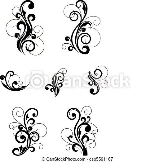Floral patterns - csp5591167