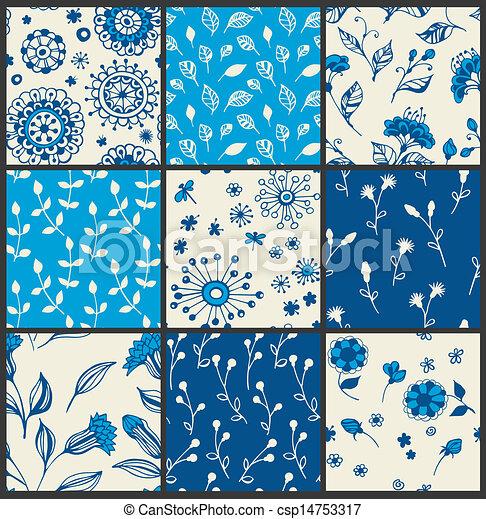 Floral patterns - csp14753317