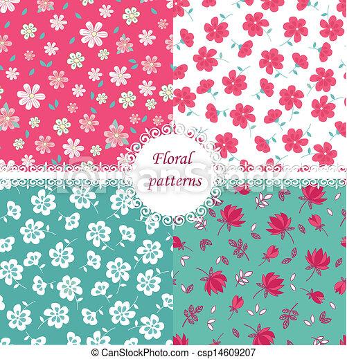 Floral patterns - csp14609207