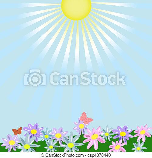 floral, paysage - csp4078440