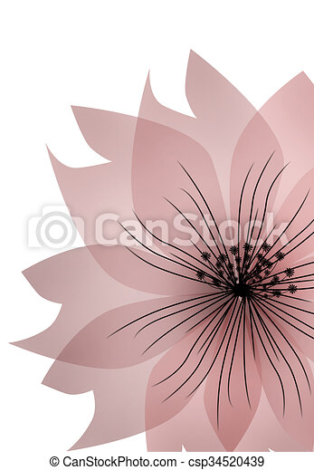 Floral pink flower on white background illustration floral pink flower on white background csp34520439 mightylinksfo