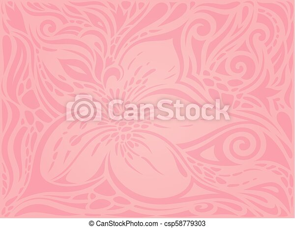 Floral Pink Vector Wallpaper Trendy Fashion Design Wedding Background