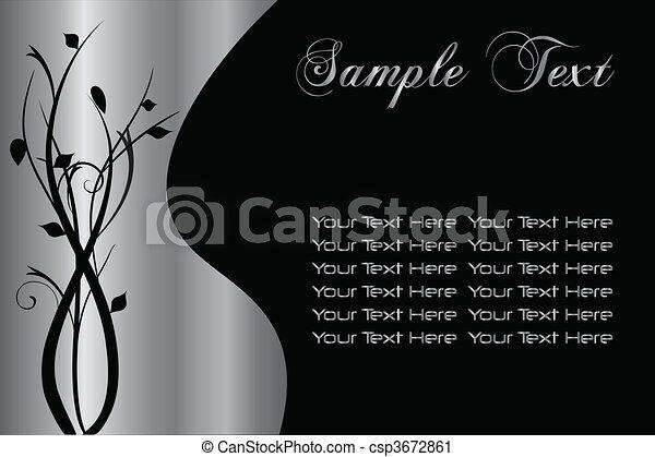 Un fondo floral de plata - csp3672861