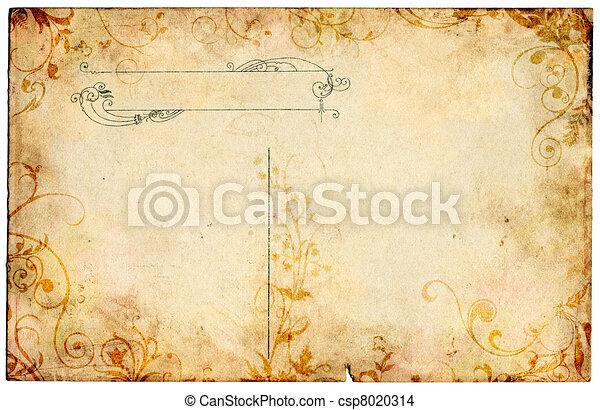 floral, postal, viejo - csp8020314