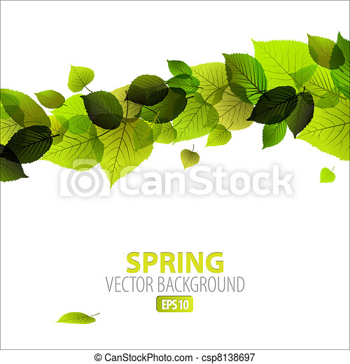 floral, primavera, abstratos, fundo - csp8138697