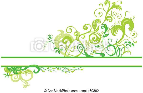 floral, primavera, desenho - csp1450802