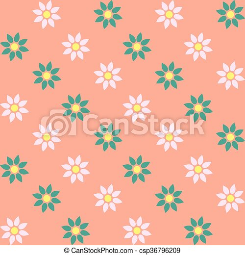 Patrón floral sin costura - csp36796209