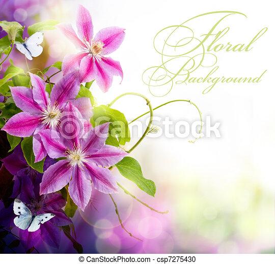 floral, printemps, conception abstraite, fond - csp7275430