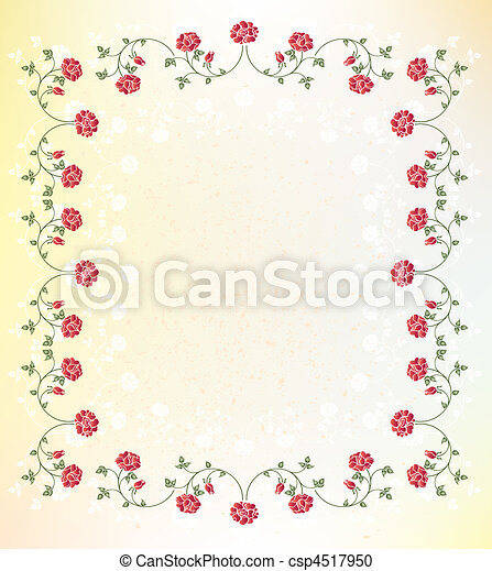 floral, quadro - csp4517950