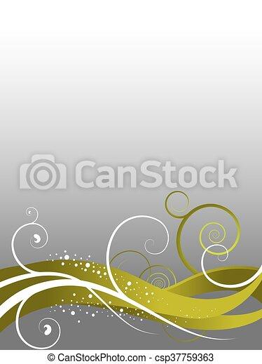 floral, résumé, fond - csp37759363