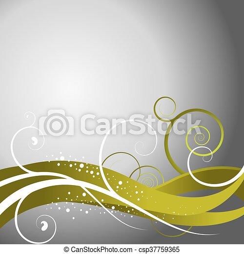 floral, résumé, fond - csp37759365
