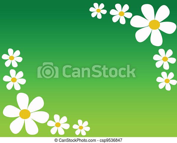 floral, résumé, fond - csp9536847