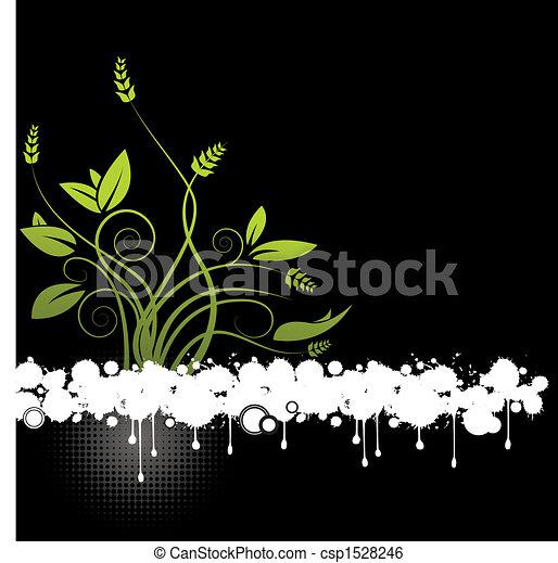 floral, résumé, vecteur - csp1528246