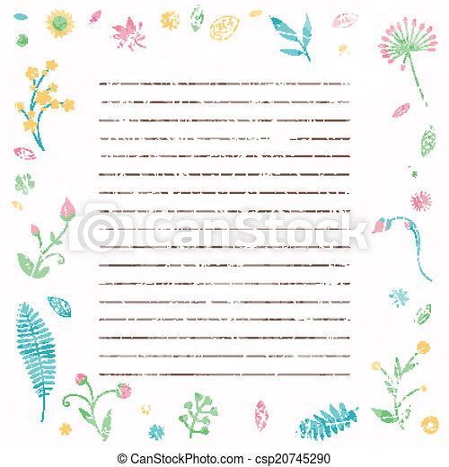 floral, résumé, vecteur, fond - csp20745290