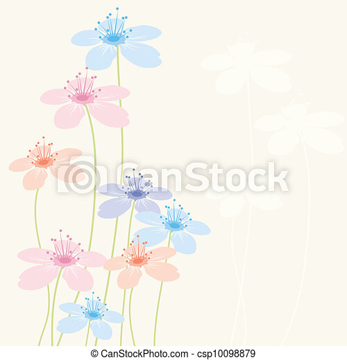floral, résumé, vecteur, fond - csp10098879