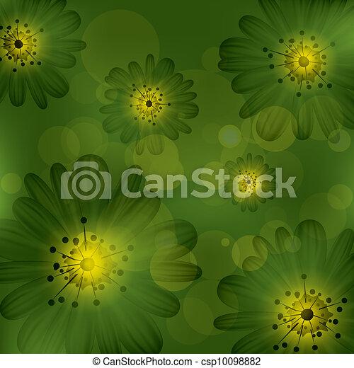 floral, résumé, vecteur, fond - csp10098882