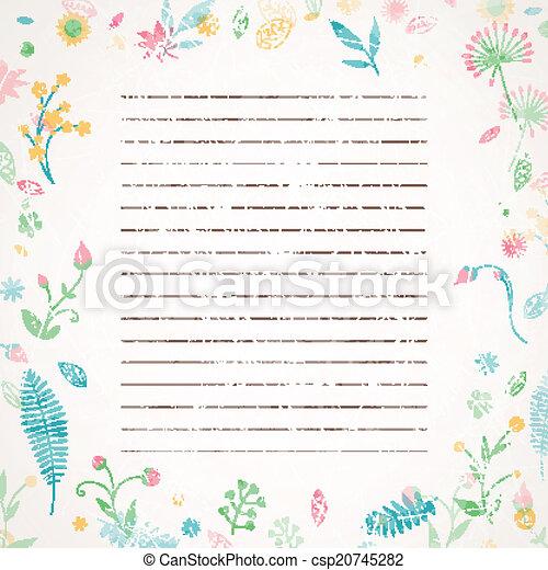 floral, résumé, vecteur, fond - csp20745282