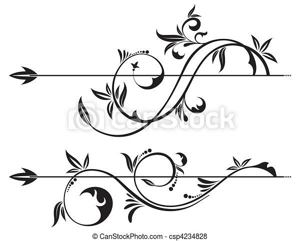 Pergamino floral - csp4234828