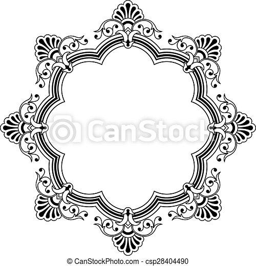 floral rand, calligraphic - csp28404490