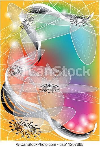 Un remolino floral - csp11207885