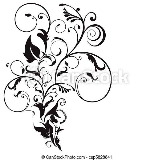 floral, resumen, artístico - csp5828841