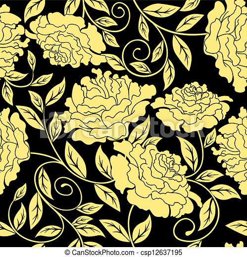 Floral sin costura en estilo abstracto - csp12637195