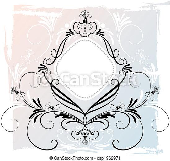 Un adorno floral abstracto - csp1962971