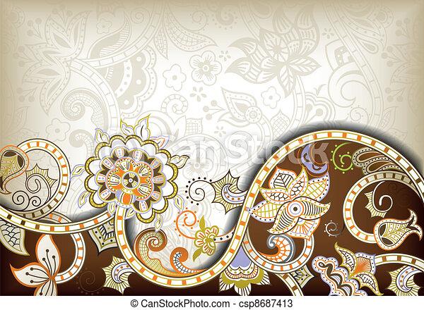 Trasfondo floral abstracto - csp8687413