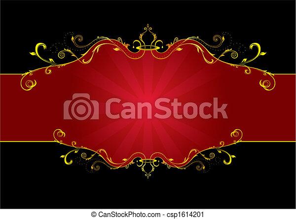 La etiqueta floral roja - csp1614201