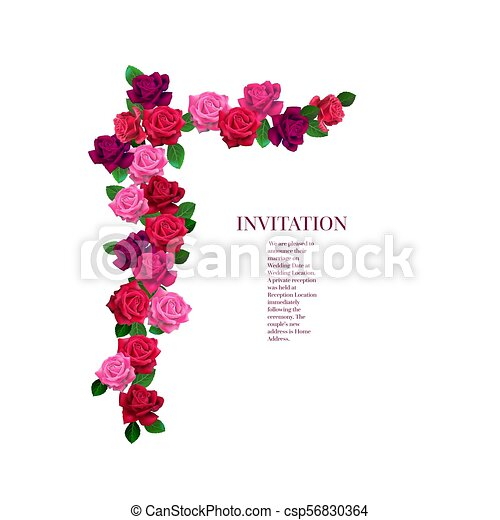 floral, rozen, hoek - csp56830364