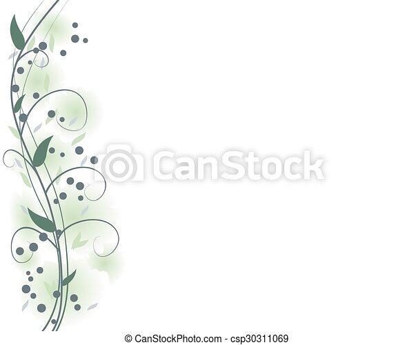 Sabio marco floral verde - csp30311069