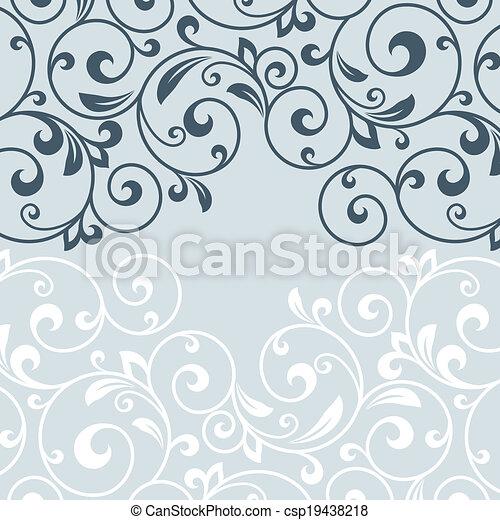 Tarjeta de felicitación floral. - csp19438218