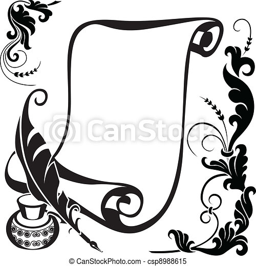 scroll illustrations and clipart 147 310 scroll royalty free rh canstockphoto com scroll clip art images scroll clip art black and white