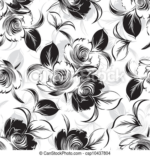 floral, seamless, achtergrond - csp10437804