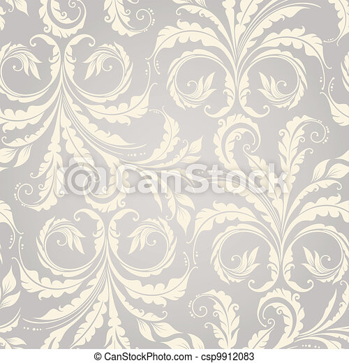 Floral seamless background - csp9912083